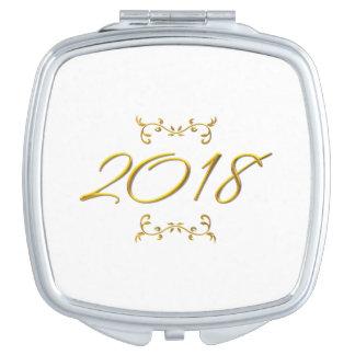 Golden 3-D Look 2018 Compact Vanity Mirror