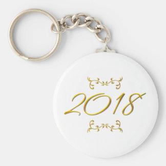 Golden 3-D Look 2018 Keychain