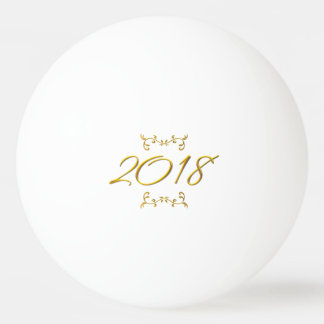 Golden 3-D Look 2018 Ping Pong Ball Template