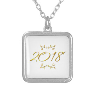 Golden 3-D Look 2018 Silver Plated Necklace