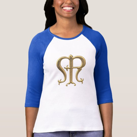 "Golden ""3-D"" Virgin Mary Symbol T-Shirt"