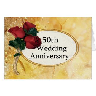 Golden 50 Anniversary Card