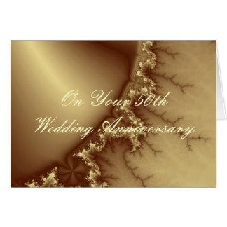 Golden 50th Wedding Anniversary Card