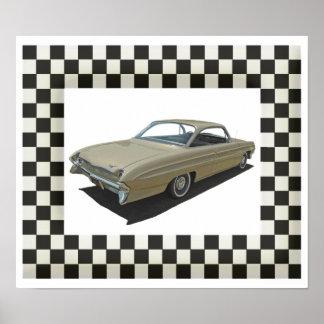 Golden 61 Oldsmobile Poster