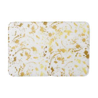 Golden abstract bath mat