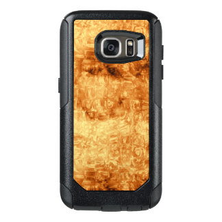 Golden Abstract Daisy Pattern OtterBox Samsung Galaxy S7 Case