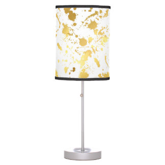 Golden abstract table lamp