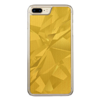 Golden abstract triangles carved iPhone 7 plus case