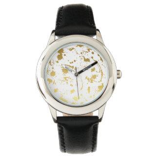 Golden abstract watch