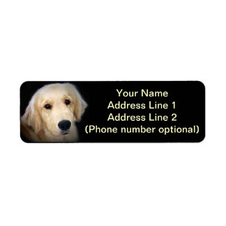Golden Address Sticker Return Address Label