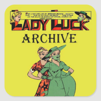 Golden Age Comic Art - Lady Luck Archive Square Sticker