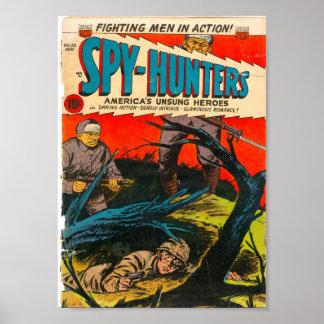 Golden Age Comic Art - Spy-Hunters Poster