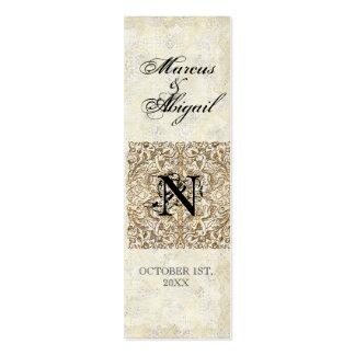 Golden Age of Elegance, Monogrammed Favor Gift Tag Business Cards
