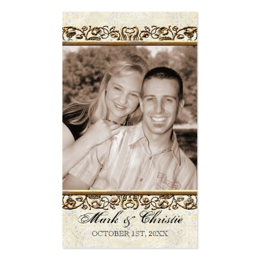 Golden Age of Elegance, Photo Favor Gift Tag Business Cards