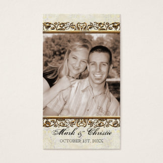 Golden Age of Elegance, Photo Favor Gift Tag Business Card
