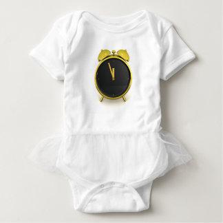 Golden alarm clock baby bodysuit