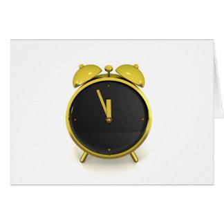 Golden alarm clock card