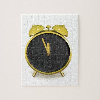 Golden alarm clock jigsaw puzzle