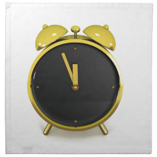 Golden alarm clock napkin