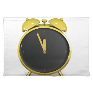 Golden alarm clock placemat