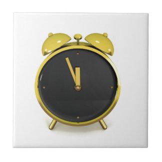 Golden alarm clock tile
