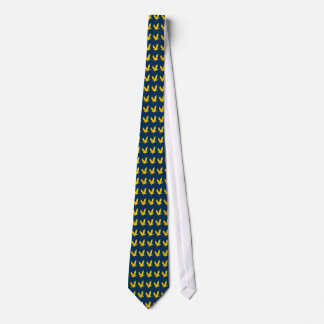 Golden American Bald Eagle Blue Necktie