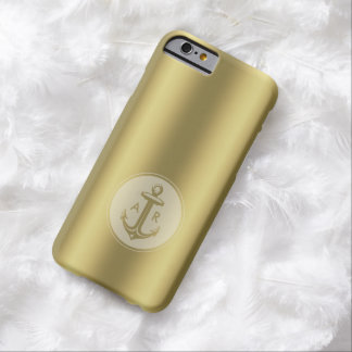 Golden Anchor | Nautical Barely There iPhone 6 Case