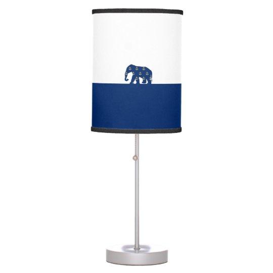 Golden Anchors Elephant On the Road Desk Lamp
