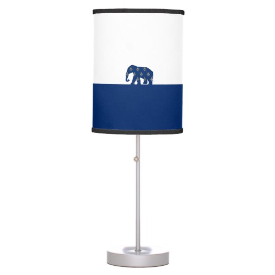 Golden Anchors Elephant On the Road Table Lamp