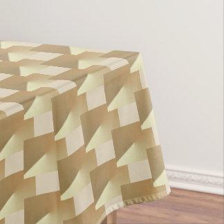 Golden and beige elegant, Xmas tablecloth. Tablecloth