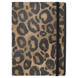 "Golden and Black glitter  Leopard/ Jaguar print iPad Pro 12.9"" Case"