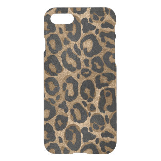 Golden and Black glitter  Leopard/ Jaguar print iPhone 8/7 Case