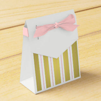 Golden and pink stripes favor box