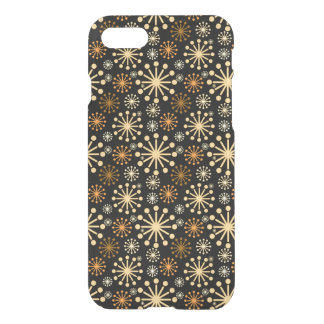 Golden and Silver Snowflakes Pattern Festive iPhone 8/7 Case