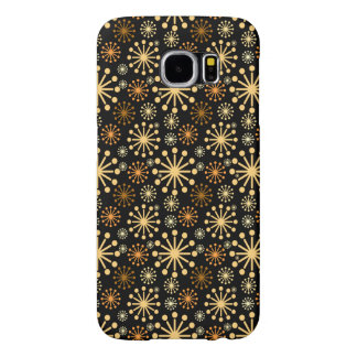 Golden and Silver Snowflakes Pattern Festive Samsung Galaxy S6 Cases