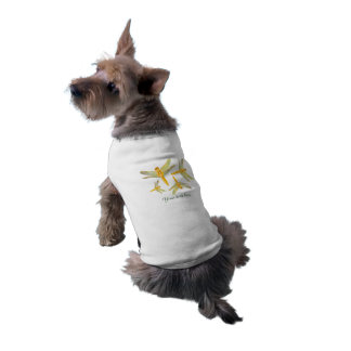 Golden and Yellow Dragonfly Doggie Tshirt