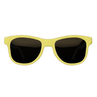 Golden and yellow triangles pattern sunglasses