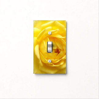 golden angel rose light switch cover