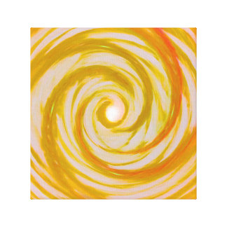 Golden Angel Wings Spiral vortex Canvas Print