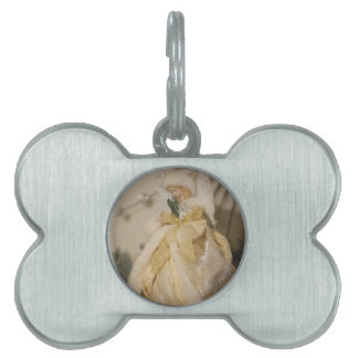 Golden Angel With Outstretched Wings Pet Name Tag
