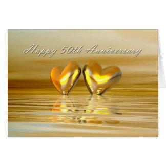 Golden Anniversary Hearts Card
