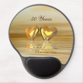 Golden Anniversary Hearts Gel Mouse Pad