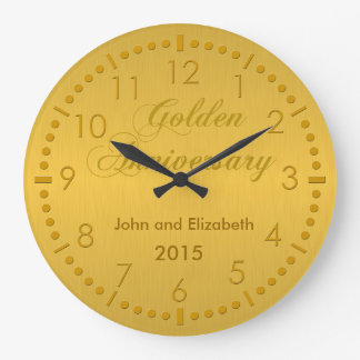 Golden Anniversary Large Clock