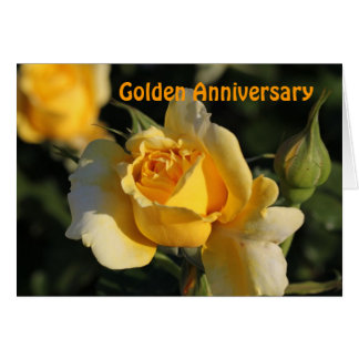 Golden Anniversary Rose Card