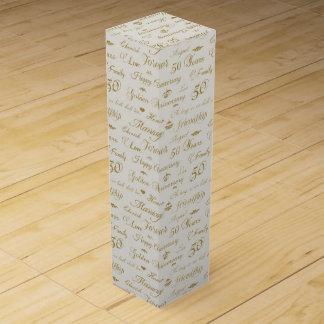 Golden Anniversary Wine Bottle Box