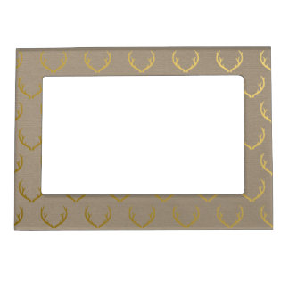 Golden Antler Pattern Magnetic Picture Frame