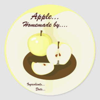 Golden Apples Homemade Product Label Round Sticker