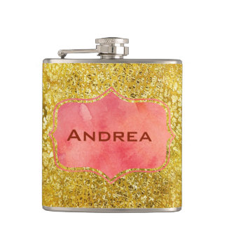 Golden Apricot Dream Hip Flask