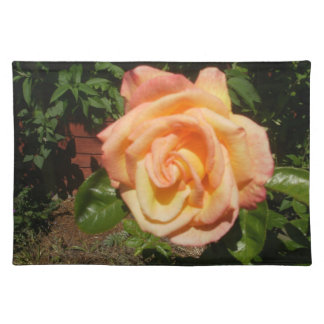 Golden Apricot Rose Placemat