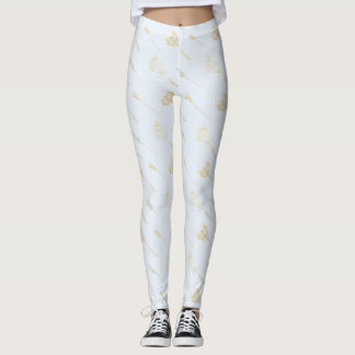Golden Arrow Pattern | Leggings